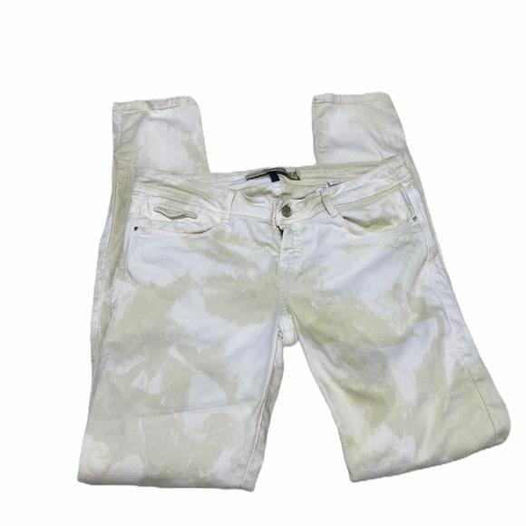 ZARA core denim yellow acid washed skinny jeans 8